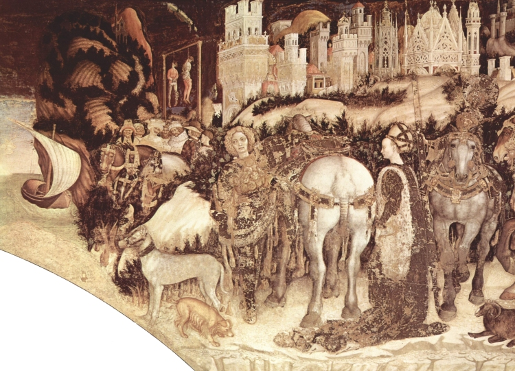 Pisanello_-_St._George_Liberating_the_Princess_of_Trebizond_-_Pellegrini-Chapel_in_Saint_Anastasia,_Verona