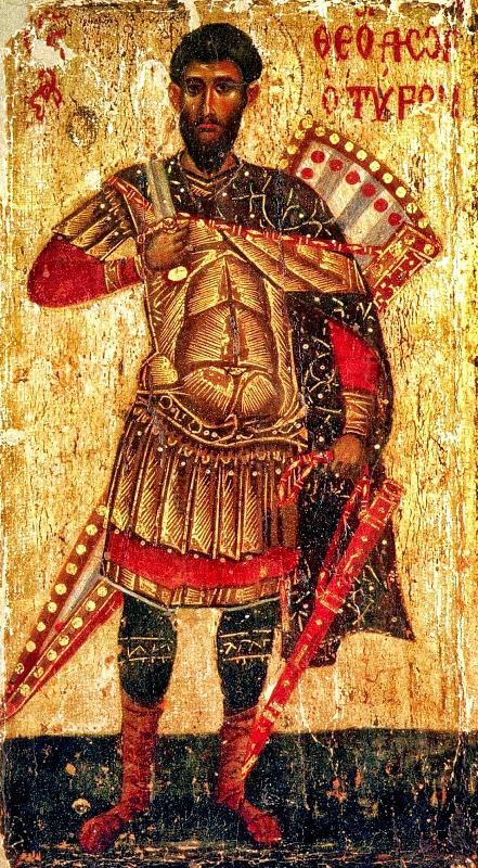 Byzantine-Theodore_Tyro-wooden_icon-Patmos